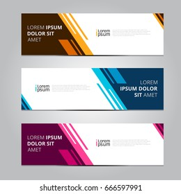 Vector abstract design banner web template.