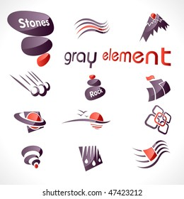 Vector abstract design elements