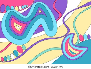 (Vector) Abstract design inspired by the work of the fashion designer Emilio Pucci. A Jpg version is also available.