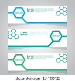 Vector abstract design web banner template. Web Design Elements - Header Design. Abstract geometric web banner template on grey background. collection of web banner design template.