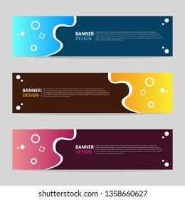Vector abstract design web banner template. Collection of web banner template. Modern template design for web.