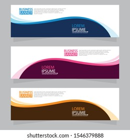 Vector abstract design web banner template. Web Design Elements - Header Design. Abstract geometric web banner template on grey background.Modern banner.