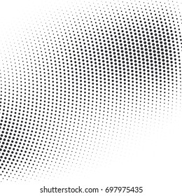 Vector abstract dotted halftone template background. Pop art dotted gradient design element. Grunge halftone textured pattern with dots.