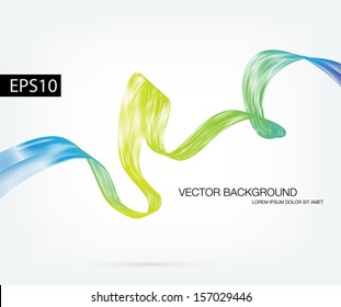 Vector abstract dynamic ribbon wave background