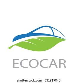 Vector abstract eco car