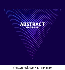 Vector abstract element with dynamic waves. Illustration suitable for design