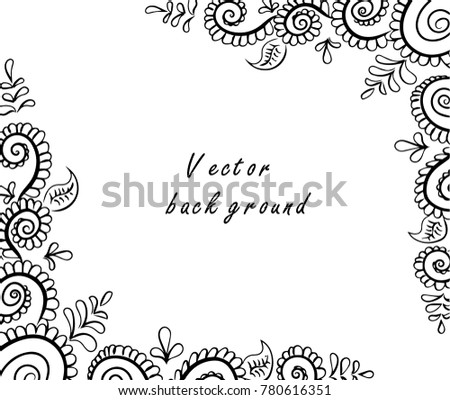 Vector Abstract Ethnic Background Henna Patterns Stock Vector