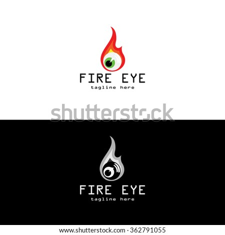 Vector Abstract Eye On Fire Logo Stock Vector Royalty Free