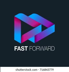 Vector abstract, Fast Forward symbol