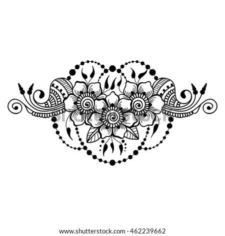 vector abstract floral mehndi template henna stock vector royalty