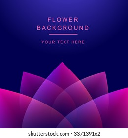 Vector abstract flower background. Lotos