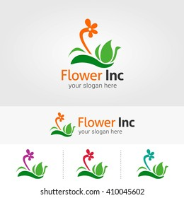 Vector abstract flower for logo and emblem.