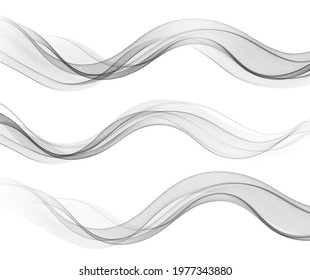 Vector abstract flowing wave lines isolated on white background. Design element for technology, science, modern concept.