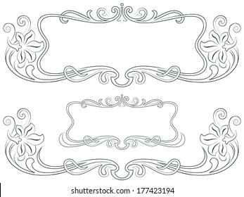 Vector abstract framework from the bound flowers for decoration and design