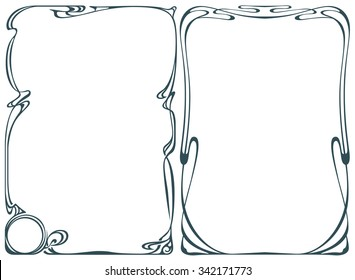 Vector abstract framework from the bound flowers and plants for decoration and design