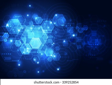 vector abstract future technology, illustration background