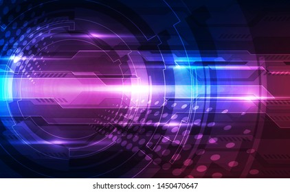 Vector Abstract futuristic technology background concept, Illustration high digital