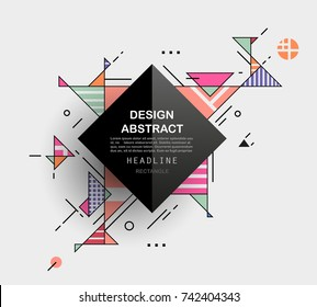 Vector, abstract geometric background