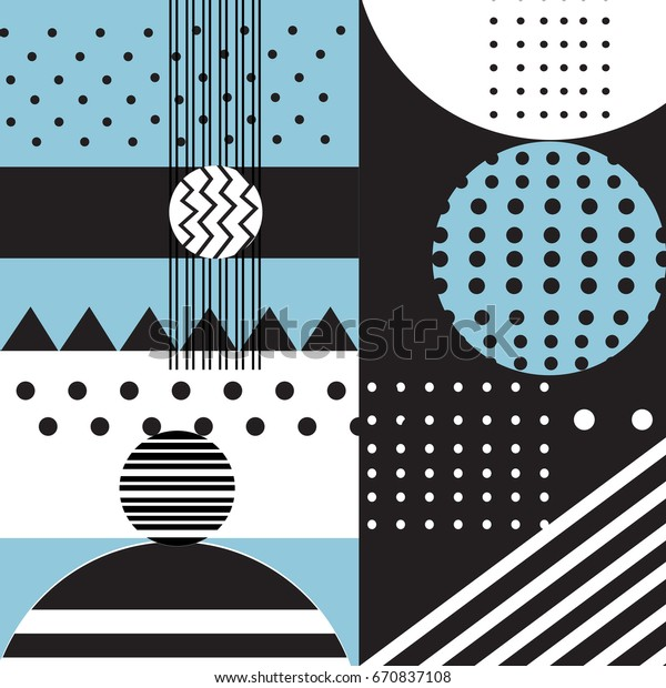 Vector abstract geometric background with different elements