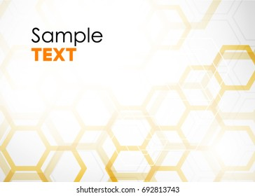 Vector Abstract geometric background. Template brochure design. Hexagonal banners. Can be used for website and promotion. Clean white design layout template.