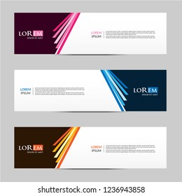 Vector abstract geometric design banner web template. vector illustration