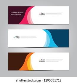 Vector abstract geometric design banner web template. Banner web design.