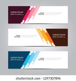 Vector abstract geometric design banner web template. Banner background.modern template design