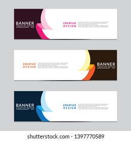 Vector abstract geometric design banner web template. Banner background modern template design .