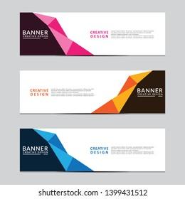 Vector abstract geometric design banner web template. Modern design. Vector illustration