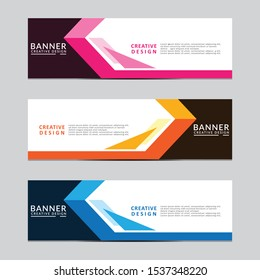 Vector abstract geometric design banner web template. Modern design. Vector illustration