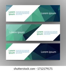 Vector abstract geometric design banner web template. Modern design spectrum background set. Vector illustration