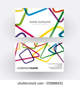 Abstract businesscard forms empty frames your stock vector royalty vector abstract geometric rainbow polygons professional business card reheart Images