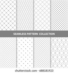 Vector Abstract Geometric Seamless Pattern Design Collection