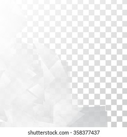 Vector Abstract geometric shape from gray triangle. White triangles
