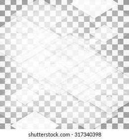 Vector Abstract geometric shape from triangles. squares