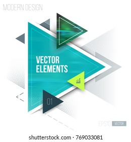 Vector of abstract geometric triangle pattern and background