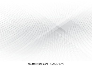 Vector abstract geometric white and gray color background with modern stripes.