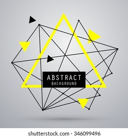 Vector abstract geometry background with triangle. EPS10