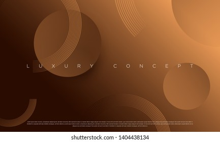 Vector abstract golden luxury backgrounds with geometric graphic elements for poster, flyer, digital board and concept design.