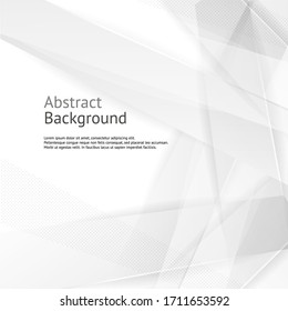 Vector abstract gray geometric banner. White background.