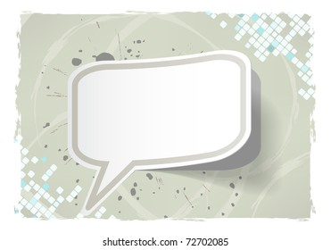 Vector abstract grunge frame with sticker