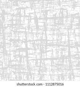 Vector abstract grunge light gray background. Gray seamless pattern, texture of the old wall, wood texture, a layer for creating the effect of old surface. Vector EPS 10 illustration.