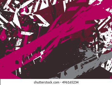 Vector abstract grunge styled background for print design