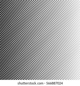 Vector abstract halftone black background. Gradient retro line pattern design. Monochrome graphic.