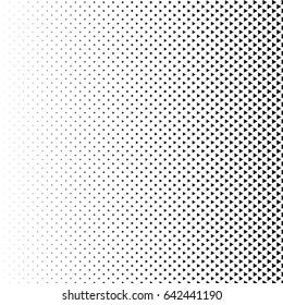 Vector abstract halftone black background. Gradient retro triangle pattern design. Monochrome graphic.