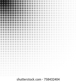 Vector abstract halftone dots textured background. Pop art dotted gradient design element