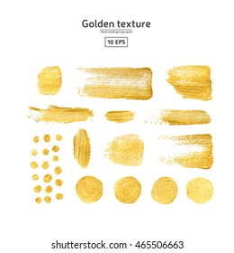 Vector Abstract hand drawn acrylic watercolor background  Color stain for design Paint brush strokes Golden texture template  for banner, background