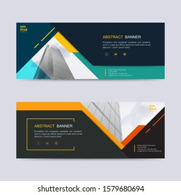 Vector abstract header and banner background. business web design template. can use for landing page, cover, bifold, flyer and social media