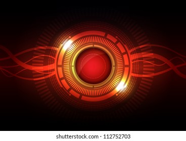 vector abstract hi-tech energy interface button, technology background