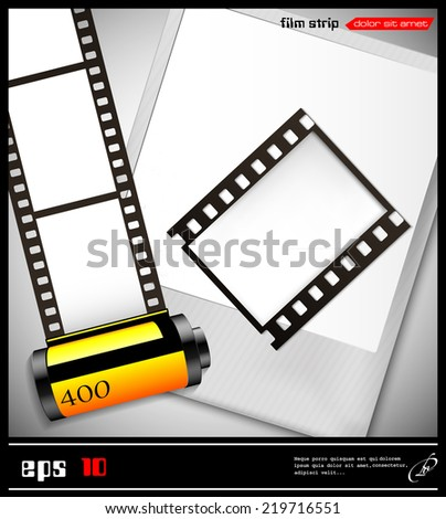 Vector Abstract Illustration Films Frame Stock Vector (Royalty Free ...